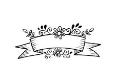 Abstracte lege lintbanner met bloemenachtergrond Royalty-vrije Stock Foto