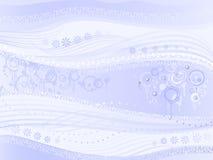 Abstracte lichtblauwe achtergrondaka Vreemde Muziek Royalty-vrije Stock Afbeeldingen