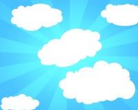 Abstracte lichtblauwe hemelachtergrond stock illustratie