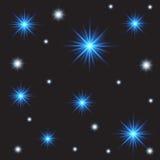 Abstracte lichte achtergrond met sterren, nevel en melkweg Stock Foto