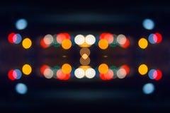 Abstracte lichte carrousel bij nacht Stock Afbeelding
