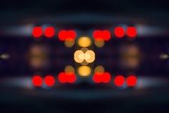 Abstracte lichte carrousel bij nacht Stock Afbeeldingen