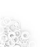 Abstracte lichte cirkels Stock Foto