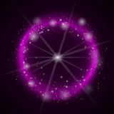 Abstracte lichte cirkelsachtergrond Vector Royalty-vrije Stock Foto's