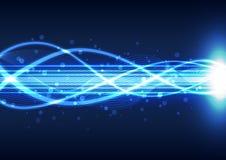 Abstracte lichte energietechnologieachtergrond, vectorillustratie Royalty-vrije Stock Afbeelding