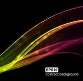 Abstracte lichte golvende futuristische achtergrond Stock Fotografie