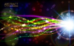 Abstracte lichte kleuren gloeiende achtergrond Royalty-vrije Stock Foto's