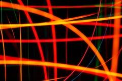 Abstracte lichte slagen stock afbeelding
