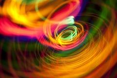 Abstracte lichte spiraal Stock Afbeeldingen