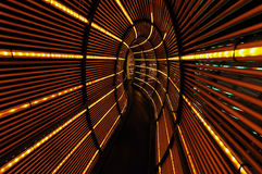 Abstracte lichte tunnel Stock Afbeelding