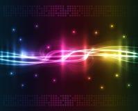 Abstracte lichten - gekleurde achtergrond Stock Afbeelding