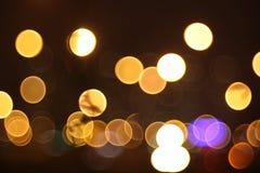 Abstracte lichten, nachtstad Stock Foto