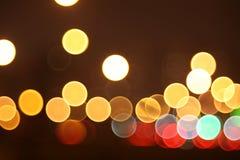 Abstracte lichten, nachtstad Royalty-vrije Stock Fotografie