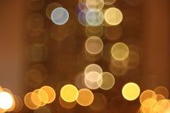 Abstracte lichten, nachtstad Royalty-vrije Stock Afbeeldingen