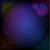 Abstracte lichten of van wervelingslichten sterrige hemel met glans donkere achtergrond voor gevolgen en achtergrond Royalty-vrije Stock Foto's