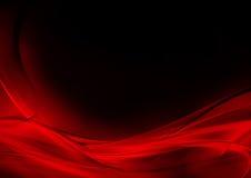 Abstracte lichtgevende rode en zwarte achtergrond Royalty-vrije Stock Foto's