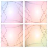 Abstracte lichtpaarse achtergronden Royalty-vrije Stock Afbeeldingen
