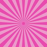 Abstracte lichtpaarse stralenachtergrond Vector royalty-vrije illustratie