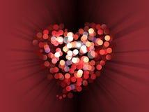 Abstracte liefde bokeh achtergrond Royalty-vrije Stock Afbeelding