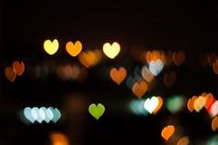 Abstracte Liefde of van de hartvorm bokeh achtergrond van Kuala Lumpur Royalty-vrije Stock Foto's