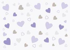 Abstracte liefdeachtergrond in zachte purper en grijs vector illustratie