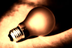 Abstracte Lightbulb Royalty-vrije Stock Foto's
