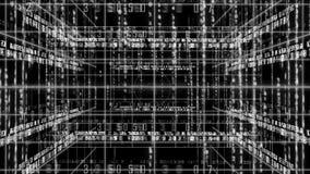 Abstracte lijn met de matrijs van de achtergrond aantaltekst LIJN 4K stock footage