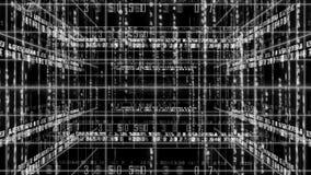 Abstracte lijn met de matrijs van de achtergrond aantaltekst LIJN 4K stock video