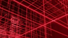 Abstracte lijn met de matrijs van de achtergrond aantaltekst LIJN 4K stock videobeelden