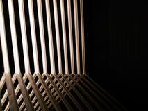 Abstracte lijn van schaduwlicht en spiegelbezinning Stock Afbeelding