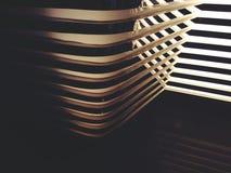 Abstracte lijn van schaduwlicht en spiegelbezinning Stock Fotografie