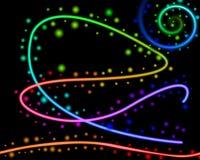 Abstracte lijnen en punten Royalty-vrije Illustratie