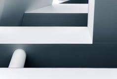Abstracte lijnen en vormen van moderne architectuur Stock Afbeelding