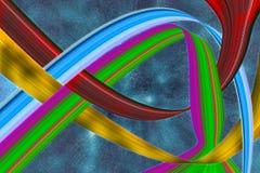 Abstracte Lijnenchaos Stock Afbeelding
