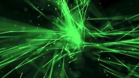 Abstracte lijnenstroom met groene velddiepte vector illustratie