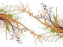 Abstracte lijnpatronen en vlekken stock illustratie