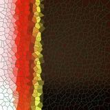 Abstracte lijnvormen in rode en bruine tinten Stock Afbeeldingen