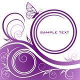 Abstracte lilac bloemenachtergrond Stock Fotografie
