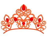 Abstracte luxe, koninklijk gouden het pictogram vectorontwerp van het bedrijfembleem Elegante kroon, tiara, het symbool van de di vector illustratie