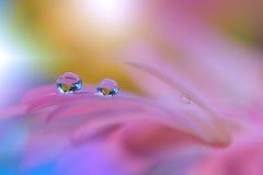 Abstracte macrofoto met waterdalingen Royalty-vrije Stock Afbeelding
