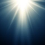 Abstracte magische blauwe lichte achtergrond Stock Fotografie