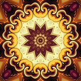 Abstracte Mandala Background Royalty-vrije Stock Foto's