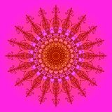 Abstracte Mandala Design stock illustratie