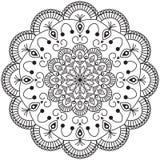 Abstracte Mandala Design Royalty-vrije Stock Afbeeldingen