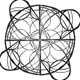 Abstracte mandala in een hand-drawn stijl Stock Afbeelding