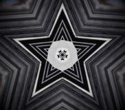 Abstracte mandala 5 opgeruimde ster Royalty-vrije Stock Foto