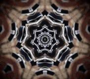 Abstracte mandala 7 opgeruimde ster Royalty-vrije Stock Afbeeldingen