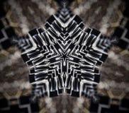 Abstracte mandala 5 opgeruimde ster Stock Foto's