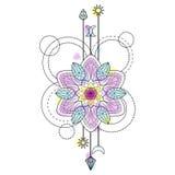 Abstracte Mandala Symbol Royalty-vrije Stock Afbeelding