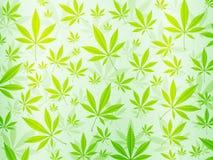 Abstracte marihuanaachtergrond Royalty-vrije Stock Afbeelding